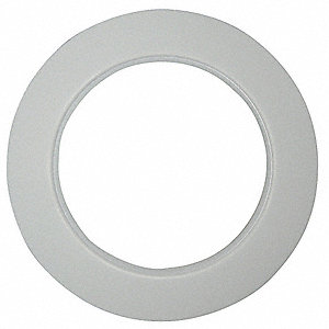 "Molded Expanded PTFE Flange Gasket, 4-1/8"" Outside Dia., White"