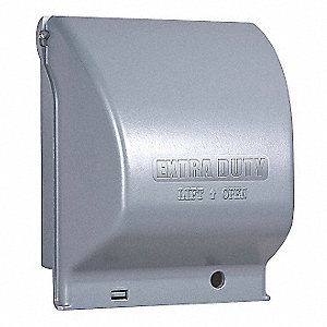 Horizontal or Vertical-Mount While In Use Weatherproof Cover, 2-Gang, Die-Cast Metal