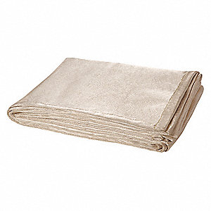 "Silica Cloth Welding Blanket Roll, 6 ft. H x 6 ft.W x 0.030"" Thick, Tan"