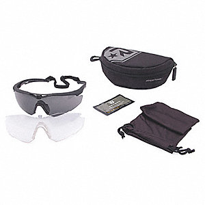 Anti-Fog, Scratch-Resistant Safety Glasses Military Kit, Assorted Lens Color