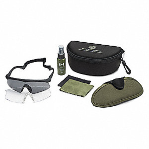 Anti-Fog, Scratch-Resistant Military Safety Glasses, Assorted Lens Color