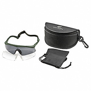 Anti-Fog, Scratch-Resistant Safety Glasses, Assorted Lens Color