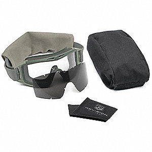 Anti-Fog, Scratch-Resistant Indirect Goggle Kit, Clear, Smoke Gray Lens
