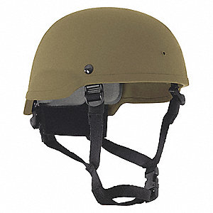 Level IIIA Lightweight Helmet, Fits Hat Size: M, Aramid, Tan