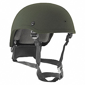 Level IIIA Lightweight Helmet, Fits Hat Size: L, Aramid, OD Green