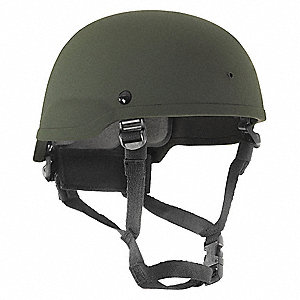 Level IIIA Lightweight Helmet, Fits Hat Size: M, Aramid, OD Green