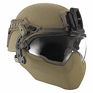 Complete Tactical Helmet System,Black, Fits Hat Size: 7-3/4 to 8-1/4, Night Vision Mount: Yes, XL