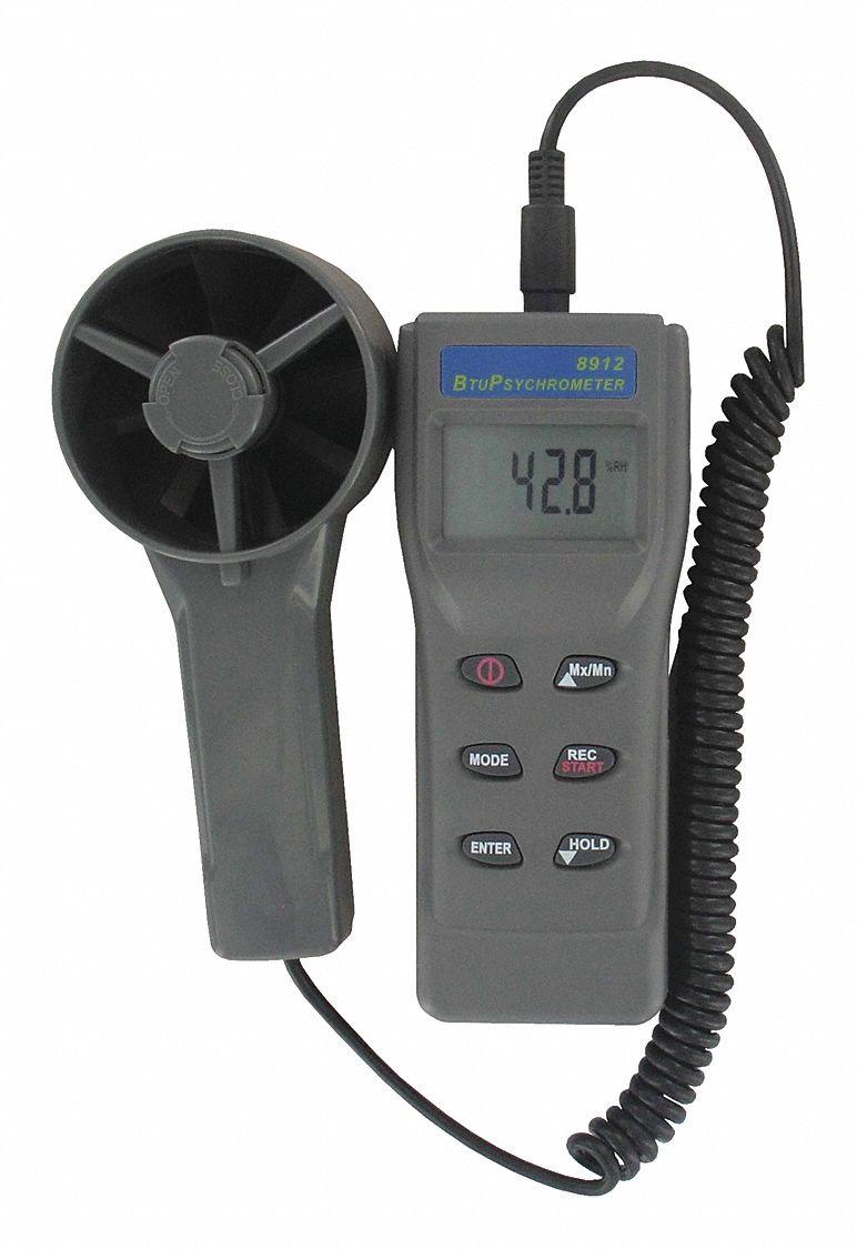 Anemometer,Rotating Vane,Gray DWYER INSTRUMENTS MW-1