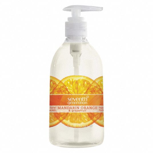 Mandarin, Orange and Grapefruit,  Liquid,  Hand Soap,  12 oz,  Pump Bottle,  None