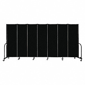 Portable Room Dvdr,7 Panels,72inHx157inW