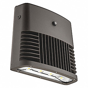 "14-1/2"" x 7"" x 12-3/4"" 88 Watt LED Wall Pack, Dark Bronze"