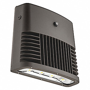 "14-1/2"" x 7"" x 12-3/4"" 148 Watt LED Wall Pack, Dark Bronze"