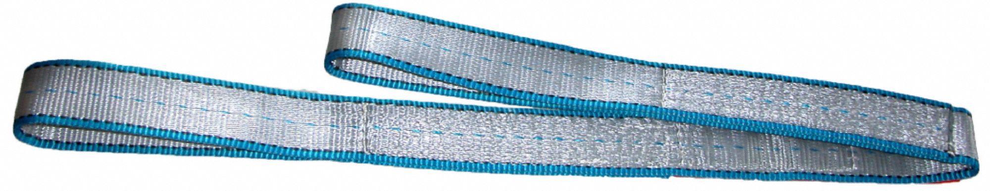 Tuff-Edge Polyester Number of Plies: 1 3 W Flat Eye and Eye Type 3 Web Sling 8 ft