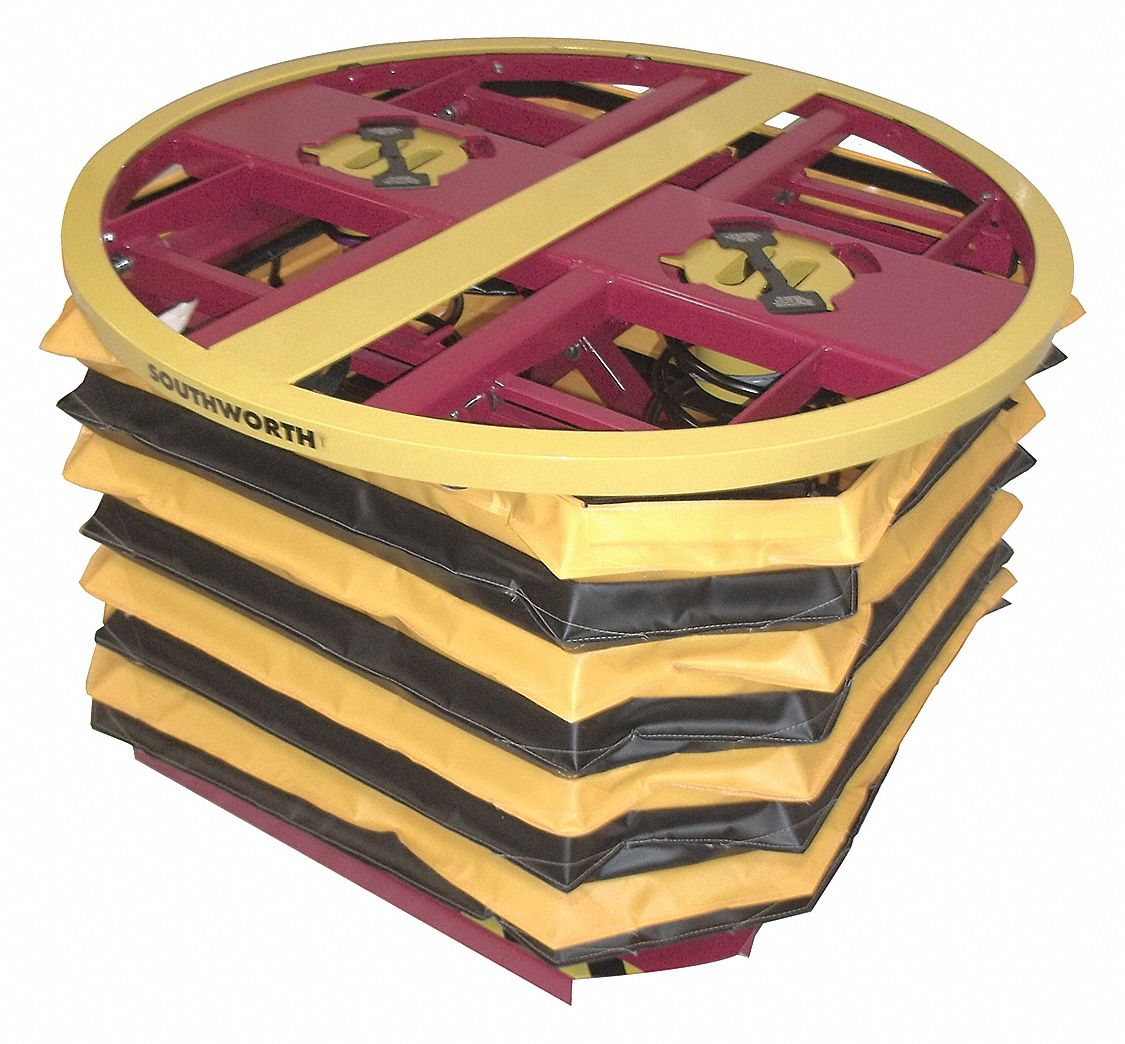 Compression Spring Pallet Positioner and Level Loader, 4,500 lb Load Capacity, 27 3/4 inRaised Heigh