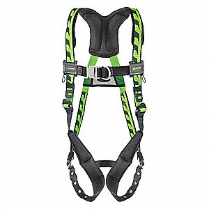 S/M Ladder Climbing, Confined Space and Rescue Full Body Harness, 5000 lb. Tensile Strength, 400 lb.
