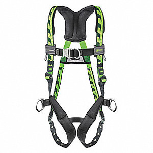 Full Body Harness,Grn,Unvrsl,TongueBuckl