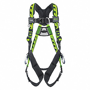 2XL Ladder Climbing, Confined Space and Rescue Full Body Harness, 5000 lb. Tensile Strength, 400 lb.