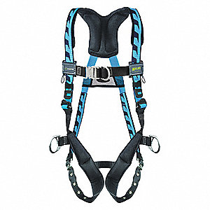 L/XL Ladder Climbing, Confined Space and Rescue Full Body Harness, 5000 lb. Tensile Strength, 400 lb