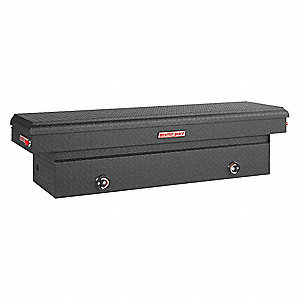Saddle Box,11.3 cu. ft.,Black,Hinged