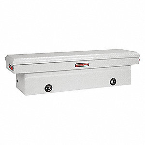 Saddle Box,11.3 cu. ft.,White,Hinged