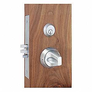Knob Lockset,Mechanical,Mortise,Grd. 1