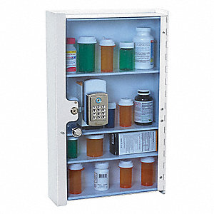 Medical Storage Cabinet,12lb,Clear Front
