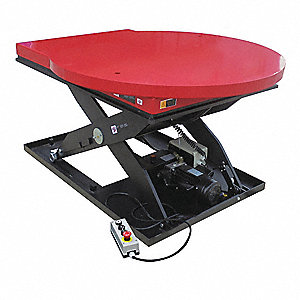 Stationary Electric Lift Scissor Lift Table, 2000 lb. Load Capacity, Lifting Height Max. 41-1/2""