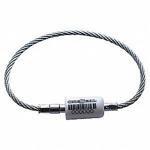 CABLE SEAL 1/8INX11IN WHITE 100/BX