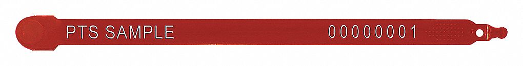 Strap Seals,  Plastic,  Red,  PK 1000