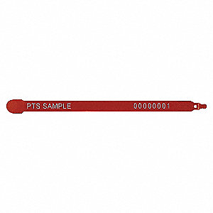 PLASTIC TRK SEAL RED 3/8X7-1/2IN 1M
