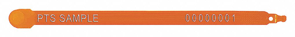 Strap Seals,  Plastic,  Orange,  PK 1000
