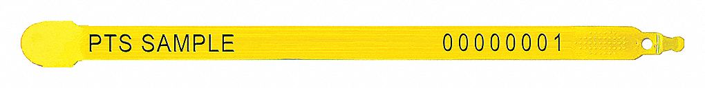 Strap Seals,  Plastic,  Yellow,  PK 1000