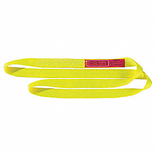 12 ft. Heavy-Duty Nylon Endless Web Sling with 16,500 lb. Vertical Hitch Capacity, Yellow