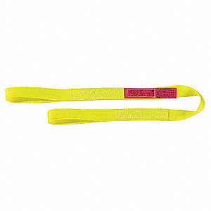 14 ft. Heavy-Duty Nylon Flat Eye and Eye Web Sling with 6400 lb. Vertical Hitch Capacity, Yellow