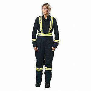 Coverall,Royal Blue,4XL,40-1/2in.,Hemmed
