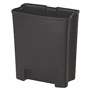 "7-1/2 gal. Black Rigid Trash Can Liner, 16-1/2"" Length, 8-11/16"" Width, 19-1/2"" Height"