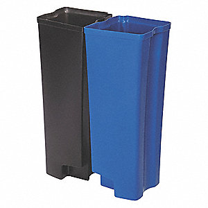 "18-1/2 gal. Black/Blue Rigid Trash Can Liner, 20-5/16"" Length, 11-13/16"" Width, 29-1/2"" Height"