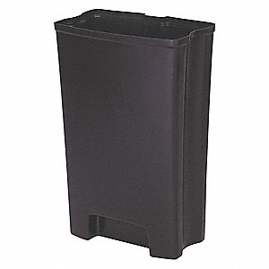 "13 gal. Black Rigid Trash Can Liner, 17-3/4"" Length, 9-15/16"" Width, 25-1/2"" Height"