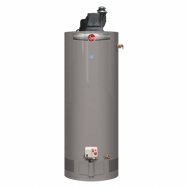 Rheem Hot Water Heaters >> RHEEM Residential Gas Water Heater, 50.0 gal. Tank Capacity, Natural Gas, 42,000 BtuH - Water ...