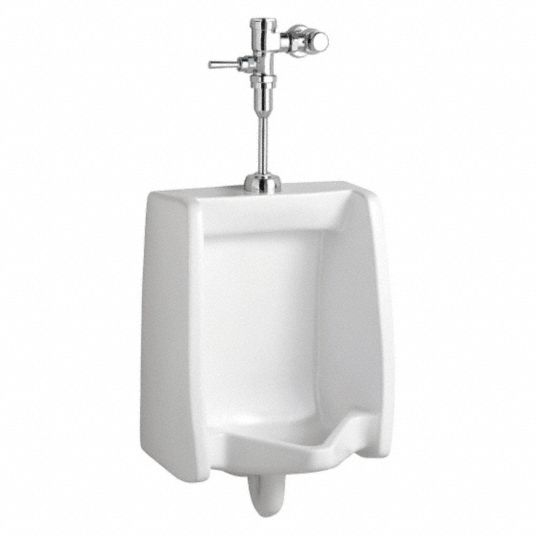 AMERICAN STANDARD Vitreous China, White, Washout Urinal & Manual Flush  Valve, Wall, Top - 38UP27|6590503.020 - GraingerGrainger