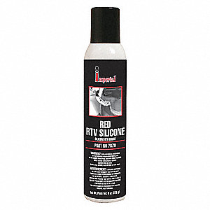 High Temp. Red RTV Silicone Sealant, 8 oz.