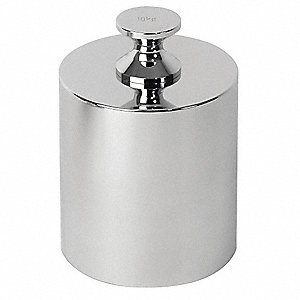 10kg Calibration Weight, Cylinder Style, Class 2, No Certficate, Stainless Steel