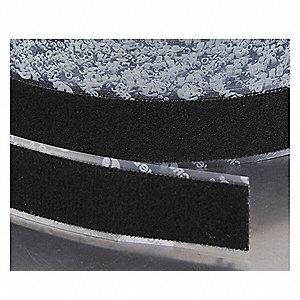 "Loop-Type Reclosable Fastener with Acrylic Adhesive, Black, 6"" x 75 ft., 1EA"