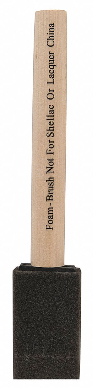 1 in Flat Sash Polyurethane Foam Foam Brush, Firm, for All Paints and Coatings, 1 EA