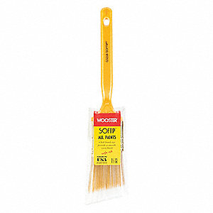 "1-1/2"" Angle Sash Synthetic Bristle Paint Brush, Soft, for All Paint & Coatings, 1 EA"