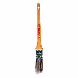 "1"" Angle Sash Polyester/Nylon Paint Brush, Firm, for All Paint & Coatings"