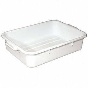 "22-1/2"" x 15-3/4"" x 5"" Polypropylene Bus Tub, White"