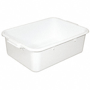 "22-1/2"" x 15-3/4"" x 7"" Polypropylene Bus Tub, White"