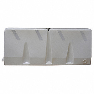 "Jersey Barrier, Unrated, 24-1/2"" x 58-1/4"" x 16-1/2"", White"
