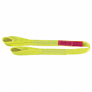 "9 ft. Twisted Eye and Eye - Type 4 Web Sling, Polyester, Number of Plies: 2, 1"" W"